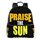 Praise The Sun! Tank Top School Unisex Large Capacity Durable Green Outdoor Activity Four Seasons Daily Daypacks
