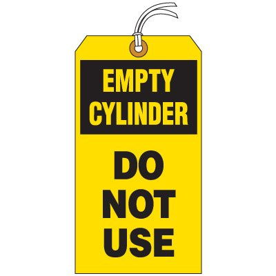TAG-Empty Cylinder 35% OFF Low price DO USE NOT