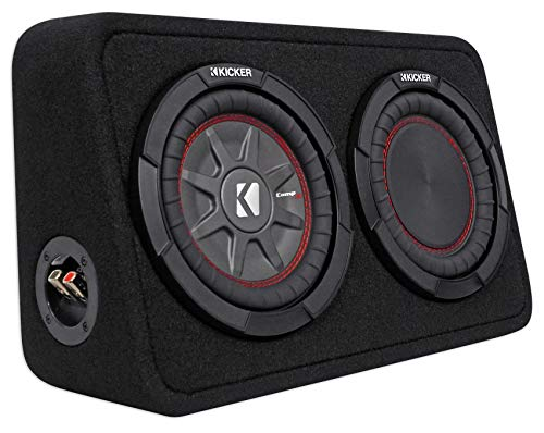 "Kicker CompRT 43TCWRT84 Single 8"" Thin Sealed Loaded Enclosure"