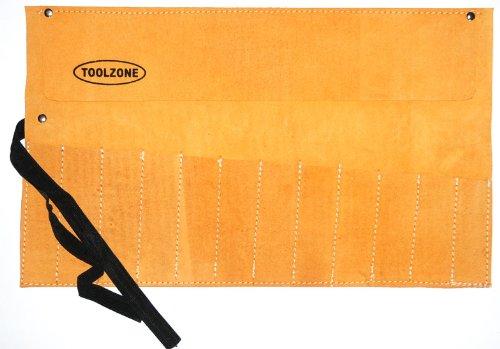 Meißel Rolltasche aus Leder, mit 12 Fächern