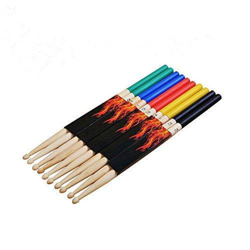 ROSENICE 7A - Baquetas multicolores para niños (5 pares)