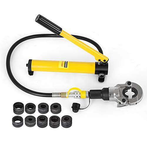 Mophorn 6T Manuelle Hydraulische Zange Handpresswerkzeug Set Hydraulisches Presswerkzeug für V/TH-Rohr (V-förmig 12-28mm / TH-förmig 16-32mm)