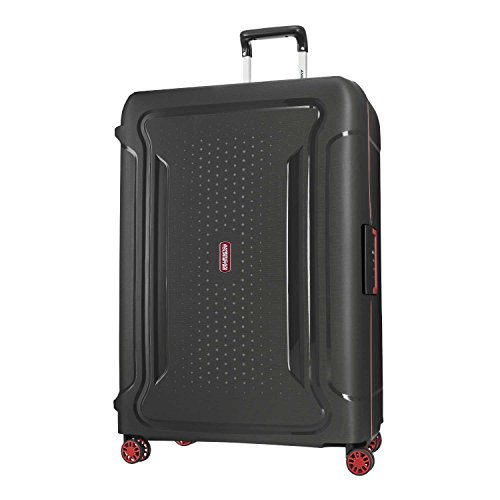 American Tourister Tribus Hardside Luggage, Black, Checked-Large