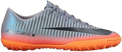 Nike Men& 039;s MercurialX Victory VI CR7 TF Turf Soccer Cleat (13 D(M) US, Cool grau, Metallic Hematite)