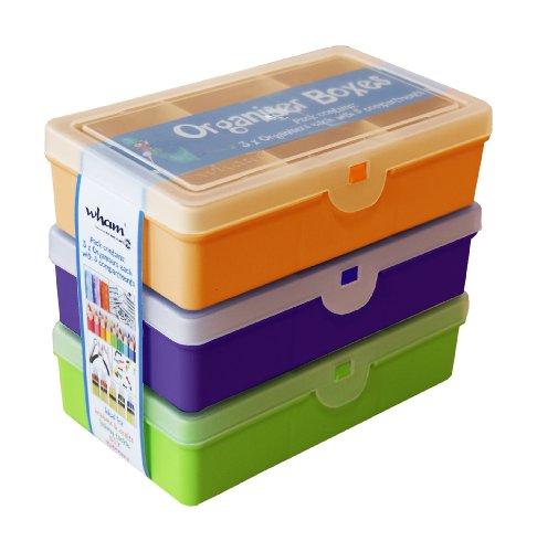 Wham Sortierbox, PP, Sortiert, 3er Set, 14,5x9,5x4 cm