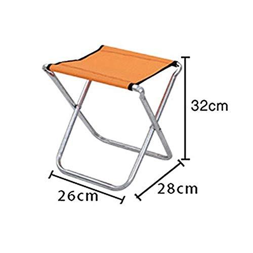 BOC Klapphocker, tragbarer Angelhocker für den Außenbereich, geeignet für Reisen und Wandern Kleiner Hocker, orangefarbener Hocker, 28 Times; 26 Times; 32 cm