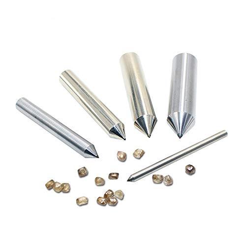 5 PCS 3.175mm Dia 50mm Longueur 1/8 Meule Diamant Dressing Stylo Dresser Outil, 6mm, 5PCS