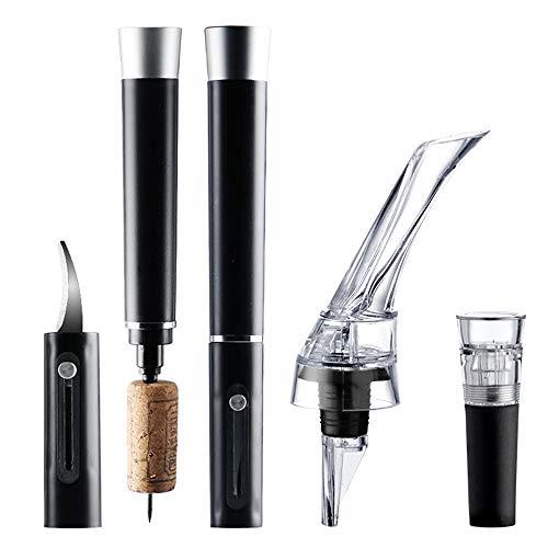 Sacacorchos de Vino, Bomba de Aire de Vino Sacacorchos/con Cuchillo de lámina, aireador Vino de Vino y tapón de vacío - Remover de Corcho de Vino Simple Accesorios