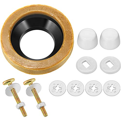 11 Pieces Toilet Wax Ring Kit Include Closet Bolts