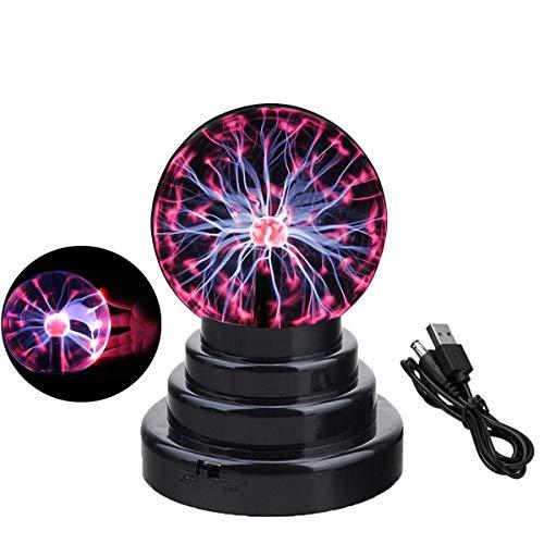 Luz de bola de plasma, lámpara de globo táctil de luz sensible, decoración creativa de la novedad mágica, USB/alimentado