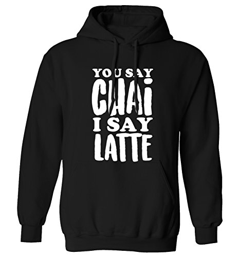 Flox Creative You say chai I say Latte!   Hoodie   XS bis 2XL Gr. L 107/112 cm, Schwarz