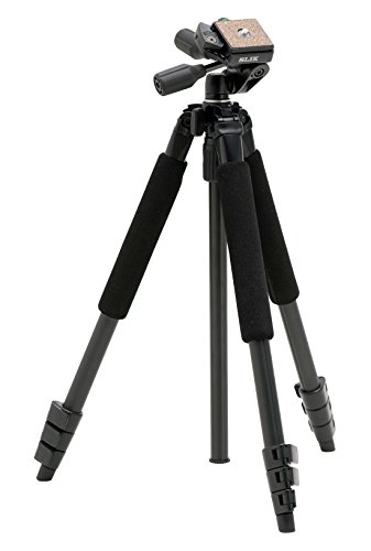 SLIK Sprint Pro II 4-Section Tripod with 3-Way Panhead, for Mirrorless/DSLR Sony Nikon Canon Fuji Cameras and More - Black (611-863)