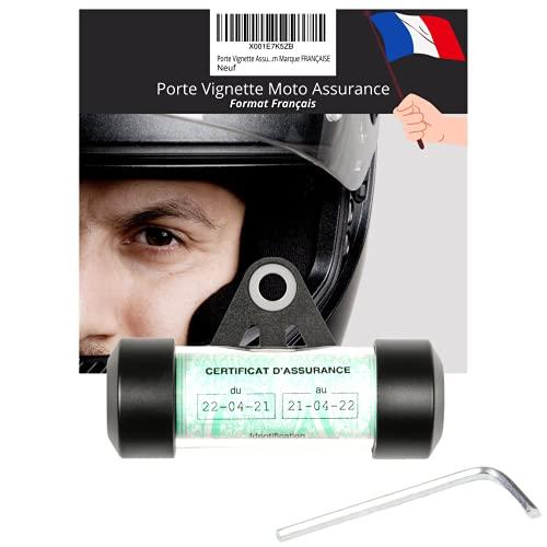 Portatornillos para moto – Porta seguro para moto – Accesorio para moto scooter o moto Quad – Soporte para tornillos de moto – Tubo impermeable redondo negro mate de aluminio – Marca francesa