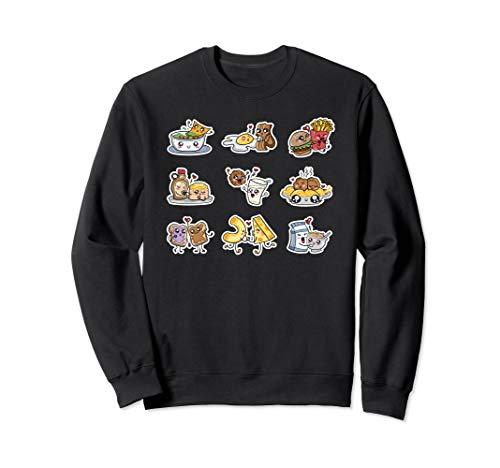 Funny Food Couples Gift Bacon Eggs Guac Chips Mac N Cheese Sweatshirt