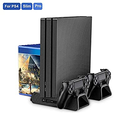 PS4/ PS4 Slim/ PS4 Pro USB Cooling Fan Multifunctional Vertical Cooler Stand For PlayStation 4 Console
