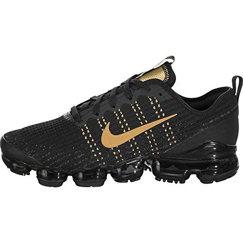 Nike Air Vapormax Flyknit 3 (gs) Big Kids Bq5238-004 Size 7 Black/Metallic Gold