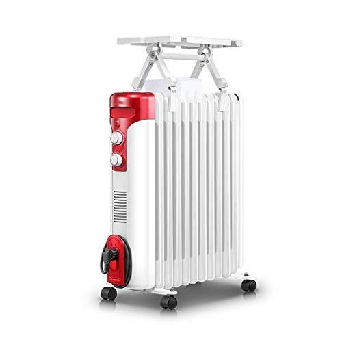 alvyu Ölradiator, energieeffiziente Heizkörper 2100W / 11Heat ableitenden Elemente, Dumping Power Off/Überhitzungsschutz und 3 Leistungseinstellung, mit Trocknung Weiß-Rack
