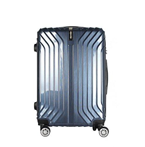 (ムーク)M∞K スーツケース 超軽量 TSAロック 【一年間修理保証】ABS+PC素材 (Lサイズ(7日〜目安)約90L, ネイビー)