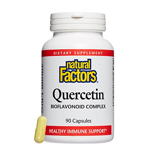 Natural Factors, Quercetin Bioflavonoid Complex, Supports Immune Health and Vitamin C Absorption with Bromelain and Rutin, 90 capsules (90 servings)