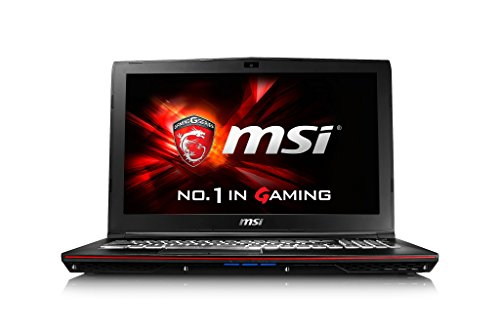 MSI GP62 6QF Leopard Pro 1416UK 15,6-Zoll-FHD Gaming Notebook (schwarz) - (Intel Core i5 6300HQ, 8 GB RAM, 128 GB SSD, 1 TB HDD, GTX 960M Grafikkarte, Windows-10)