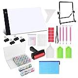 cherrypop Kit de almohadilla de luz LED A4, mesa de luz LED, herramientas y accesorios para pintura de diamante 5D