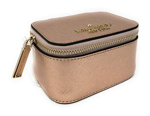 Kate Spade New York Jewelry Holder Travel Box Saffiano Leather Rose Gold