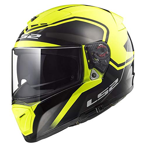 LS2 390-1345 Full Face Motorcycle Helmet (Yellow, XL)
