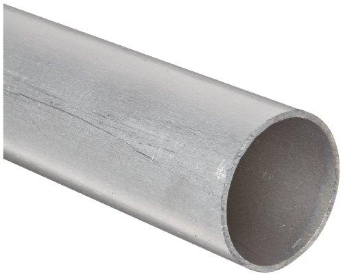 "Aluminum 6061-T6 Seamless Round Tubing, WW-T 700/6, 3/8"" OD, 0.245"" ID, 0.065"" Wall, 36"" Length"