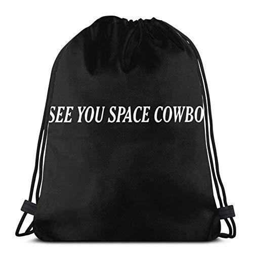 Wir sehen Uns Space Cowboy Sticker Drstring Rucksack Gym Sack Pack Solid Cinch Pack Sinch Sack Sport String Bag