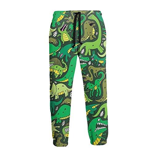 Florasun Dinosaur Green - Pantalones deportivos para hombre grandes y altos