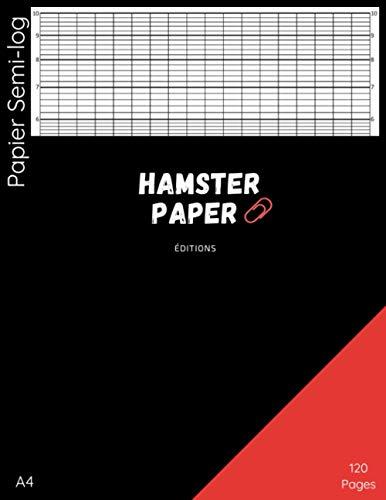 Papier Semi-log 120 pages: Format A4 - 120 grilles
