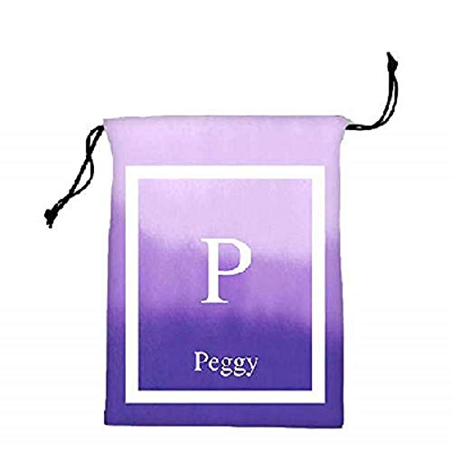 Personalizado Nombre Inicial Monograma Impreso poliéster Maquillaje y Bolsa de cosméticos Bolsa de Viaje Organizador con cordón Motivo 2 Talla única