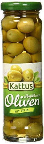 Kattus Spanische grüne Oliven mit Stein, 6er Pack (6 x 85 g)