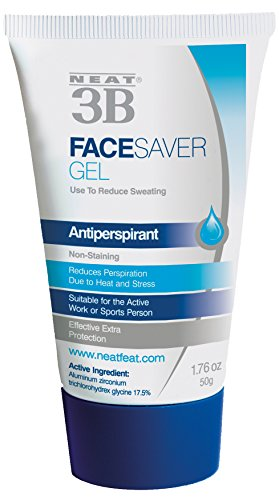 Neat Feat 3B Face Saver Antiperspirant Gel for Facial Perspiration and Shine, 1.76 Fluid Ounces, White and Blue