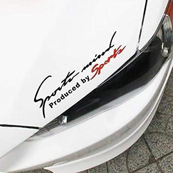 Grebest Car Sticker External Decoration Car Sticker Reflective Sports Mind Letters Car-Styling Vehicle Headlight Decal Sticker Decor White