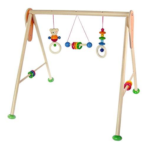 Hess Holzspielzeug 13371 - Babyspielgerät Bär Henry aus Holz, ca. 62 x 57 x 55 cm