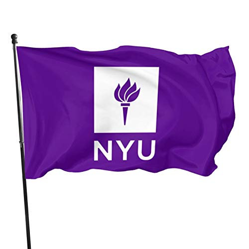 Nyu New York University Flag Vertical Double-Sided, Indoor Decoration, Seasonal Courtyard Outdoor Small Polyester Sign Double-Sided 3x5 Ft