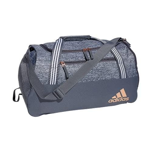 adidas Women's Squad 5 Duffel Bag, Jersey Onix Grey/Onix Grey/Rose Gold, One Size