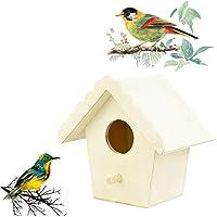 巣のDoxネストハウスバードハウスバードボックス木製ボックスクリエイティブ壁掛け木製の屋外の鳥の巣鳥の家 (Color : F)