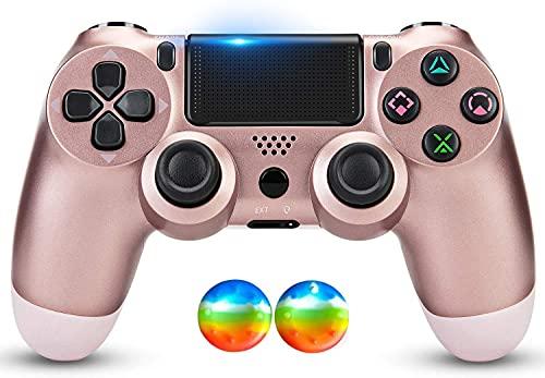 Juego Game-Controller für PS4, kabelloser Controller für Playstation 4/Windows/Android/iOS, Roségold