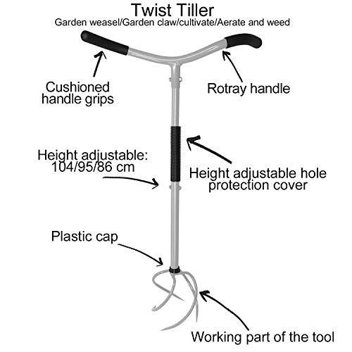 Giading Twist Tiller, Garden Claw, Cultivator Tiller, Hand Tiller, Soil Lossener, Lawn Aerator, Areator Loosen, Rototiller, Garden Bed and Plant Box Cultivator.