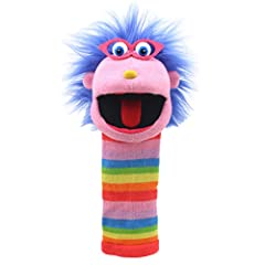 Gloria is a large knitted sock puppet packed full of character. With Bold, bright stripes and a squeaker in its tongue, this puppet is a big hit with both children and adults. Knitted Puppets are great fun to use and will entertain all! Suitable for ...