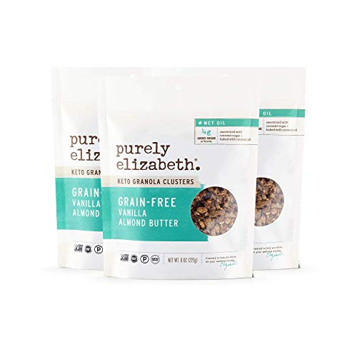Purely Elizabeth Vegan Grain & Gluten-Free Keto Granola, Vanilla Almond Butter (3 Ct.)