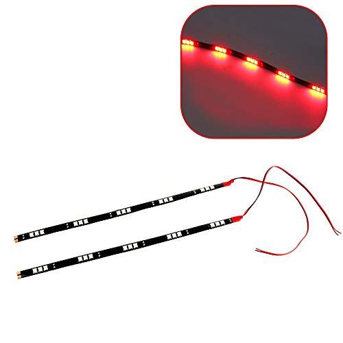 Itimo 2 pcs/lot Auto Lampes de voiture feux de voiture feux de brouillard DC 12 V étanche 15 SMD universel (Rouge)
