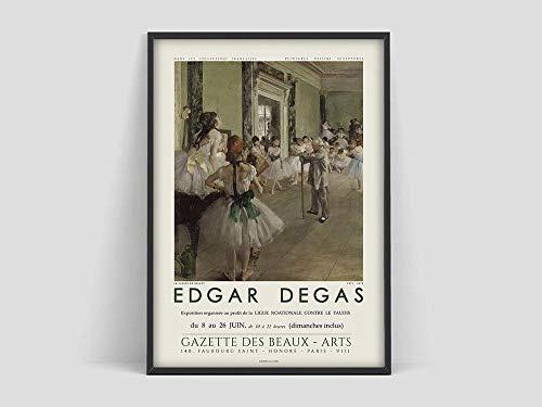 Póster de Edgar Degas Ballest Class, impresión de Degas Ballet, póster de exhibición de Degas, Degas Ballet, lienzo sin marco familiar M 30x45cm