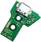 YuYue - 2 conectores de carga micro USB, 12 pines, cable de cinta flexible de repuesto compatible con JDS-040 Sony Playstation PS4 controlador DualShock 4
