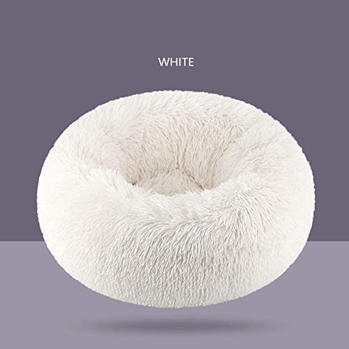 LZC Plush Donut Pet Bed, Medium-sized Dog Bed Easy To Clean Square Pillow/Nest Pet Bed With Removable Cover
