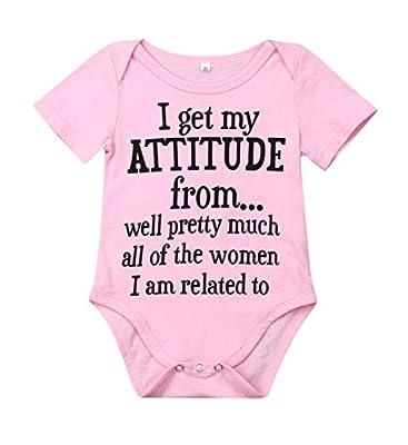 Newborn Baby GOT My Mind ON My Mommy Paws Funny Bodysuits Rompers Outfits Grey White 0-18M (Z-z IGetMyAttitudefrom, 3-6M)