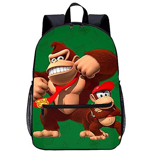Mochila 3D Mochilas Escolares -Regresa Donkey Kong Country-Adecuado para: estudiantes de primaria y secundaria, la mejor opción para viajes al aire libre-Tamaño: 45x30x15 cm / 17 pulgadas-mochila in