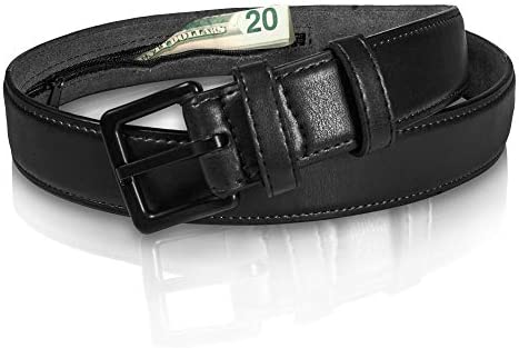 Genuine Leather Travel Money Belt Metal Free w Anti Theft Hidden Money Pocket Like a Funny Pack product image